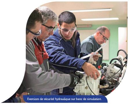 Sécurité en Hydraulique - Formation sur banc de simulation hydraulique